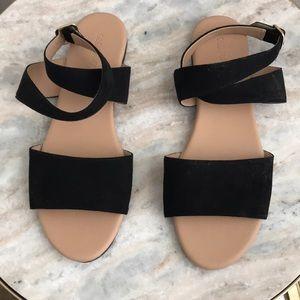 Black Strappy Sandals - Never Worn!